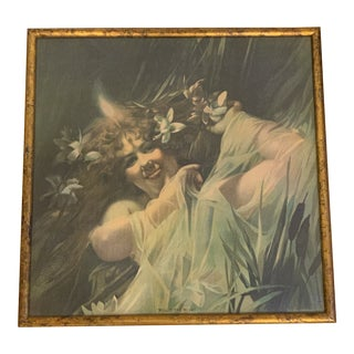 Vintage Willo the Wisp Faerie Framed Print Rare Find For Sale