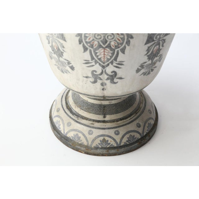 Late 19th Century Enameled Cast Iron Rouen Urn For Sale - Image 5 of 13