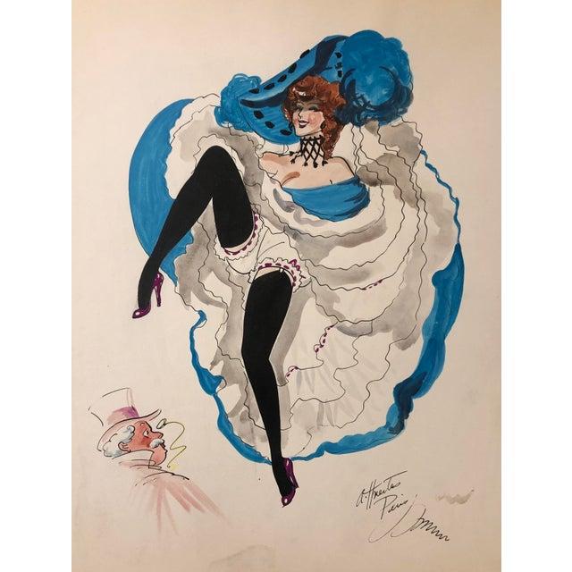 Mid-Century Parisian Can Can Dancer by Alice Huertas For Sale - Image 6 of 6