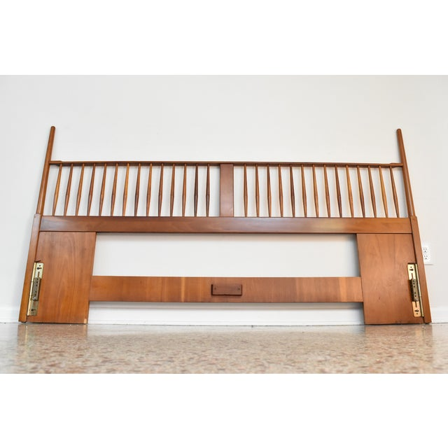 An absolutely stunning, ultra rare, king size headboard designed by Kipp Stewart for Drexel, C1950s. Produced in the late...