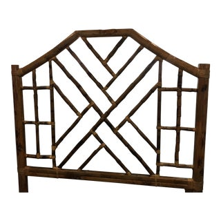 Chinese Chippendale Headboard, Queen Size For Sale