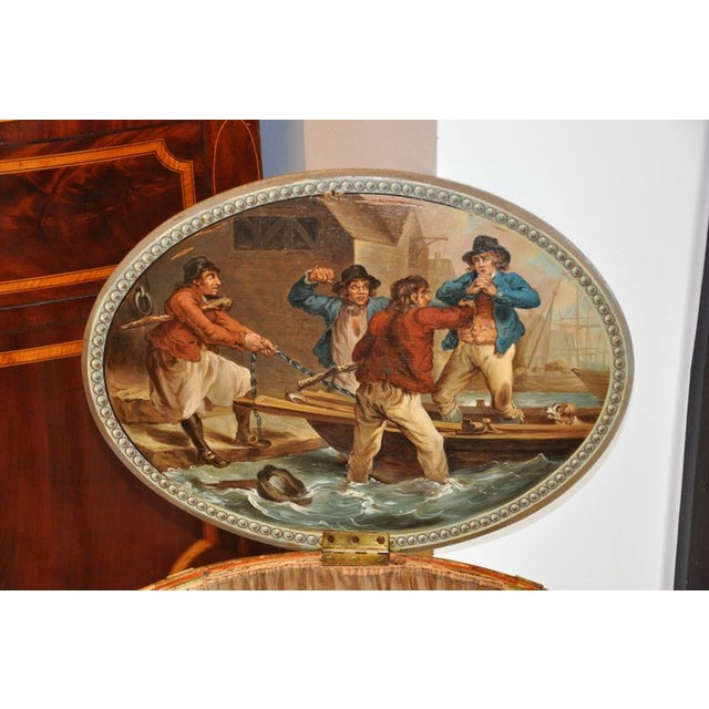 Period English Robert Adam Painted Neoclassical Work Table, Circa 1770 For Sale In Boston - Image 6 of 7