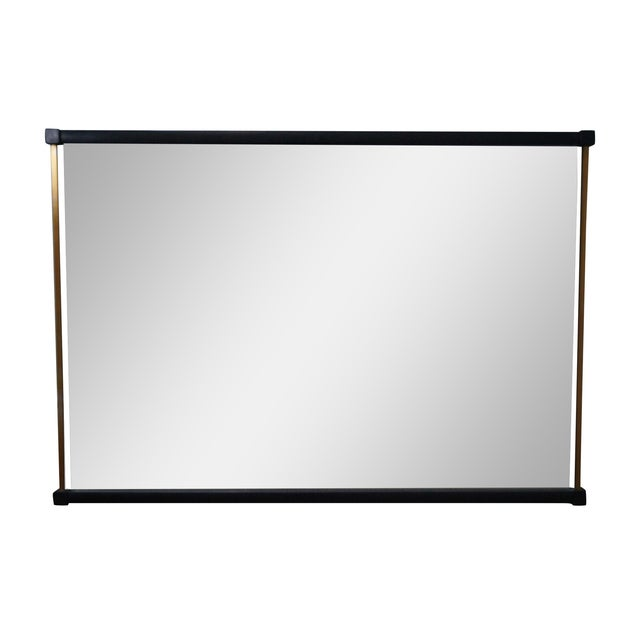 Tung Si Ebonized & Brushed Nickel Mirror - Image 1 of 10