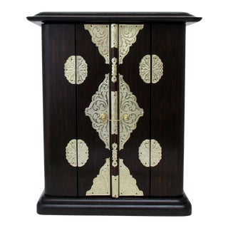Wood & Brass Altar Cabinet