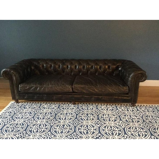 We are sadly selling our amazing sofa due to relocation. Luxurious leather sofa from restoration hardware. In great shape...