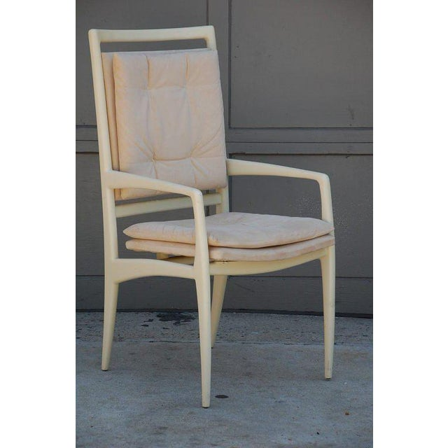 White Pair of Exceptional Bone Lacquer Armchairs by Vladimir Kagan For Sale - Image 8 of 10