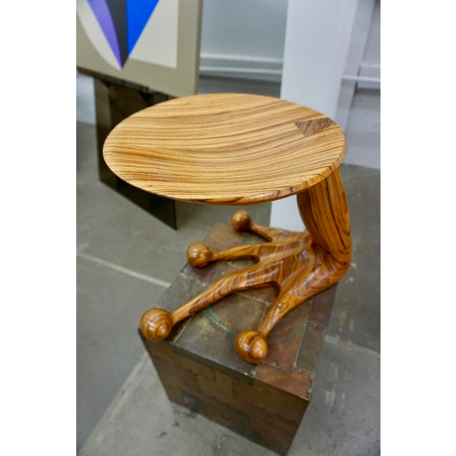 Zebrawood Stool by Tim Mackaness For Sale In Palm Springs - Image 6 of 7