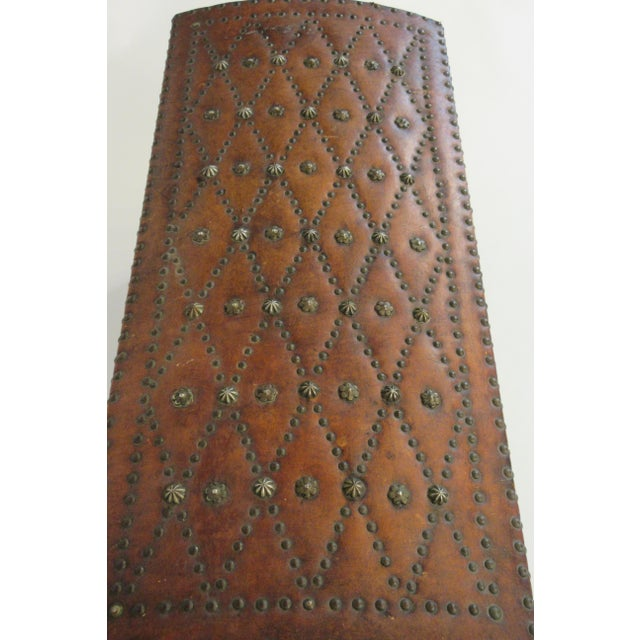 1950s 1950s Leather Studded Dome Top Trunk For Sale - Image 5 of 13