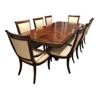 Bassett Dark Cherry Finish Wood Dining Set