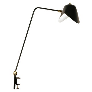 Agrafee Desk Lamp, Double Swivel, by Serge Mouille For Sale