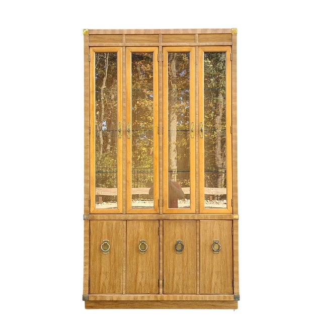 Vintage Drexel 1pc Breakfront China Cabinet For Sale - Image 13 of 13