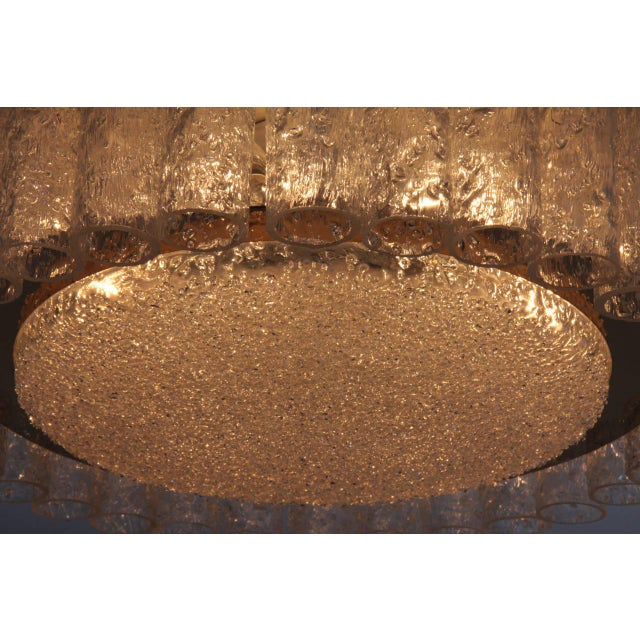 Pair of Large Doria Glass Flush Mounts or Sconces with Brass Surround For Sale - Image 6 of 8