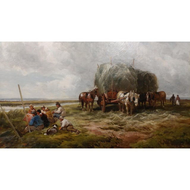 19th Century Edmund Morison Wimperis Harvesters Resting Oil Painting For Sale - Image 4 of 10