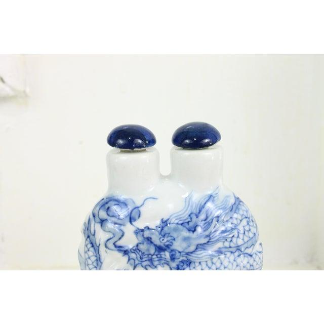 Ceramic Double Head Porcelain Bottle For Sale - Image 7 of 9