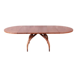 Harold Schwartz for Romweber Mid-Century Modern Spider Leg Extension Dining Table, Newly Restored For Sale