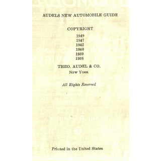 """1949 """"Audels New Automobile Guide"""" Collectible Book Preview"""