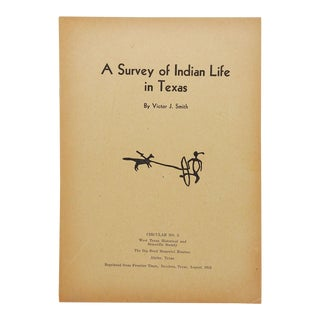 A Survey of Indian Life in Texas Book For Sale