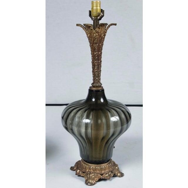 Art Nouveau 1940's Italian Venetian Lamps - a Pair For Sale - Image 3 of 7