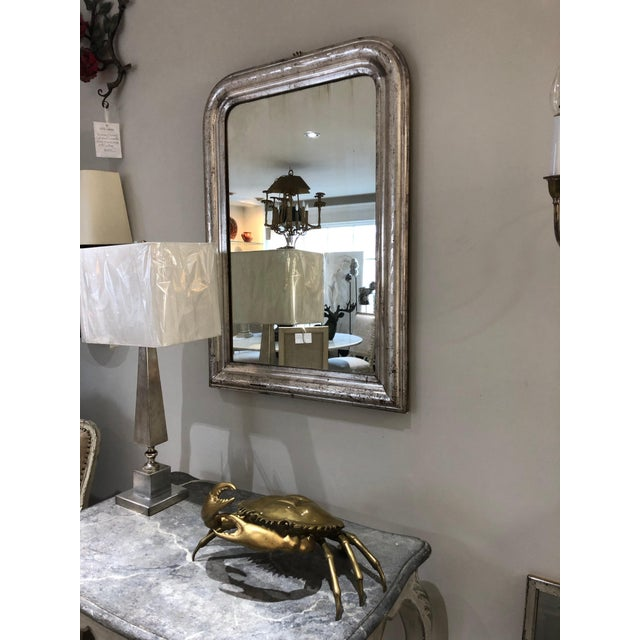 Silver Leaf Mirror With Etched Vine Design, Original Mirror For Sale - Image 11 of 13