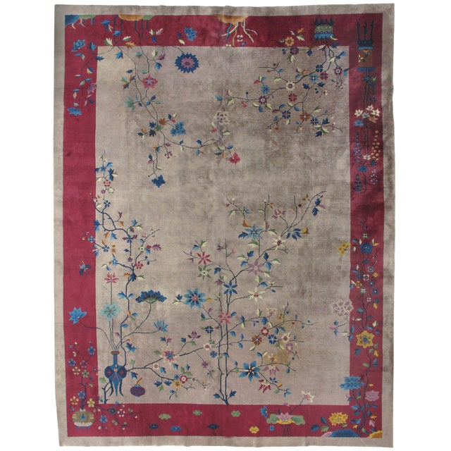 Art Deco Chinese Rug 8'10 X 11'5 For Sale