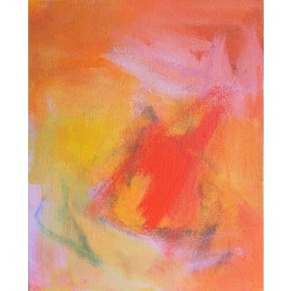 """Dawn"" by Trixie Pitts Mini Abstract Expressionist Oil Painting For Sale"