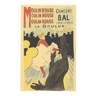 """HENRI DE TOULOUSE-LAUTREC Moulin Rouge 13"""" x 9.5"""" Lithograph For Sale"""