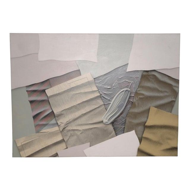 "William DeKoornbolt ""Wonton Malice"" Original Mixed Media Abstract Painting C.1981 For Sale"