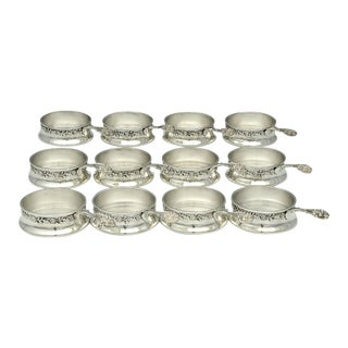 Gorham Silver A4695 Sterling Ramekin Holders With Monogram For Sale