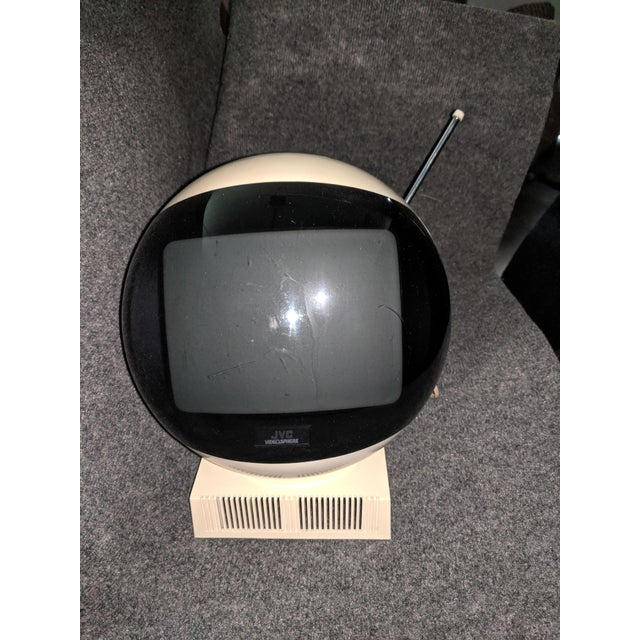 1970s Vintage Space Age Jvc Videosphere Black and White Tv