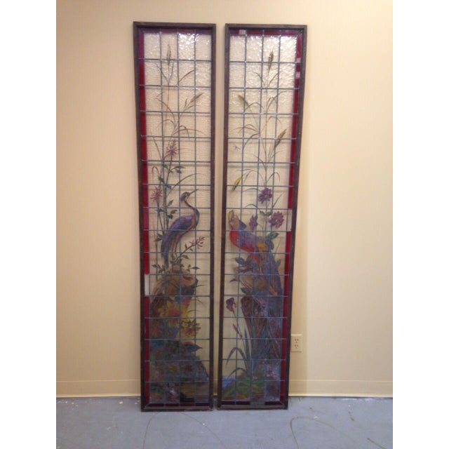 Late 19th Century French Painted and Fired Stained Glass Windows - a Pair For Sale - Image 13 of 13
