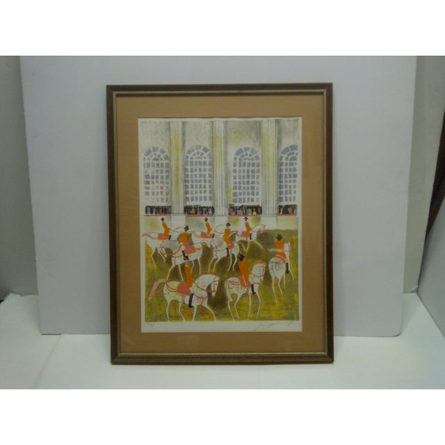 """This is a Framed And Matted Limited Edition Signed And Numbered (186/375) Print that is titled """"Horses On Parade"""" - The..."""
