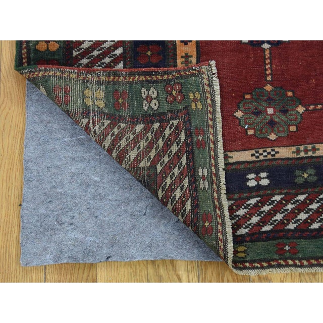 Late 19th Century Antique Caucasian Kazak Hand Knotted Rug- 5′9″ × 8′5″ For Sale - Image 5 of 13