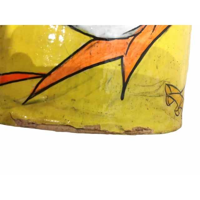 Paper Vintage Mid-Century Paper Mache Can / Vessel For Sale - Image 7 of 9