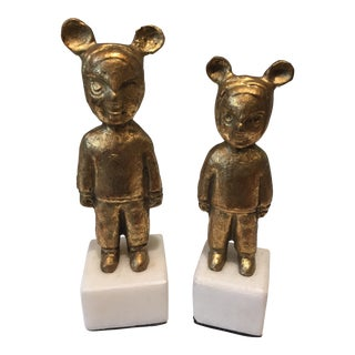 Modern Bungalow 5 Max & Mimi Figurines- A Pair For Sale
