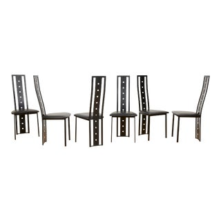 High-Back Postmodern Dining Chairs - Set of 6 For Sale