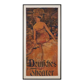 Adolf Munzer Deutsches Theater Poster, 1905 For Sale