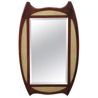 20th Century Italian Art Deco Mahogany Wall Mirror For Sale