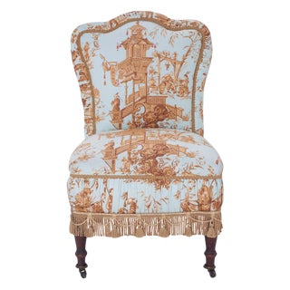 Antique Slipper Chair For Sale