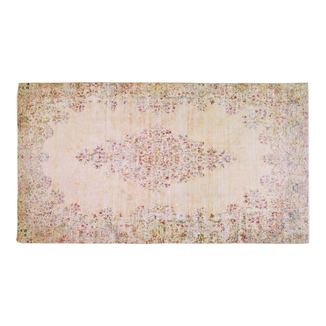 """Vintage Persian Kerman Hand Knotted Organic Wool Fine Weave Rug,7'8""""x14'1"""" For Sale"""