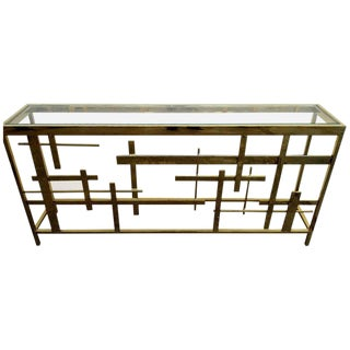 Brass Console Table by Mitchell Gold