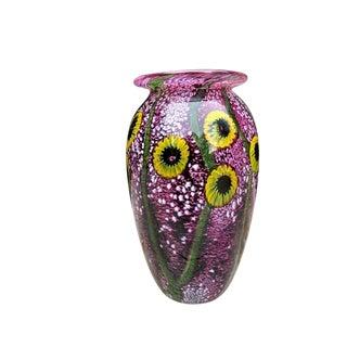 Sunflower Art Glass Vase For Sale