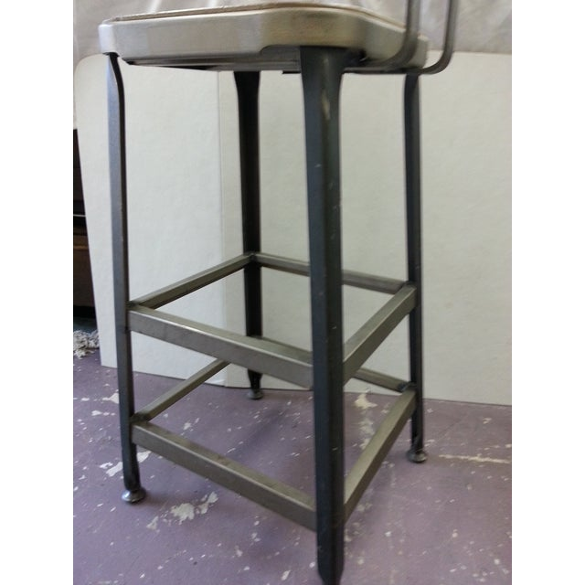 Industrial Steel Bar Stools - Set of 3 - Image 5 of 6