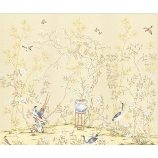 "Casa Cosima Cream Brighton Triptych Wallpaper Mural - 3 Panels 108"" W X 100"" H For Sale"