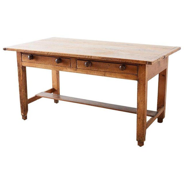 Rustic English Pine Library Table or Farm Table For Sale - Image 13 of 13