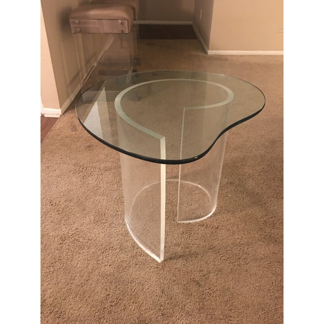 Vintage Modern Lucite Spiral Side Table For Sale In Los Angeles - Image 6 of 6