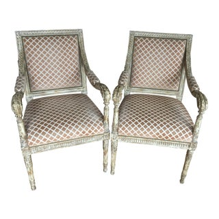 Nancy Corzine Louis XV Inspired Accent Chairs - A Pair