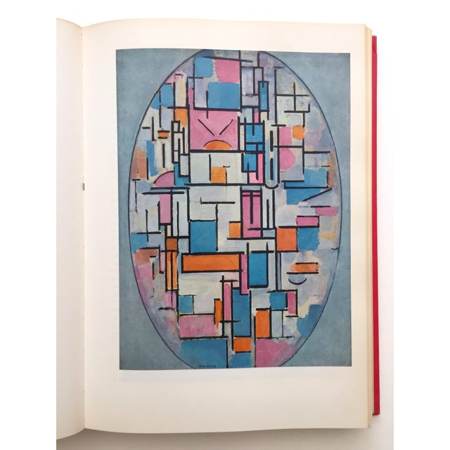 """Piet Mondrian """" Piet Mondrian - Life and Work """" Rare Vintage 1956 1st Edtn Collector's Iconic Large Volume Lithograph Print Modernist Art Book For Sale - Image 4 of 13"""