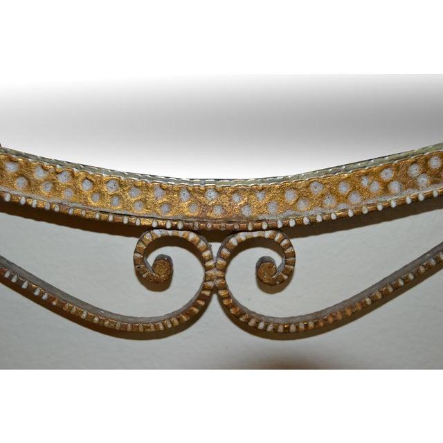 Art Deco Style Italian Gilt Wrought Iron Wall Mirror by Pier Luigi Colli For Sale - Image 10 of 12