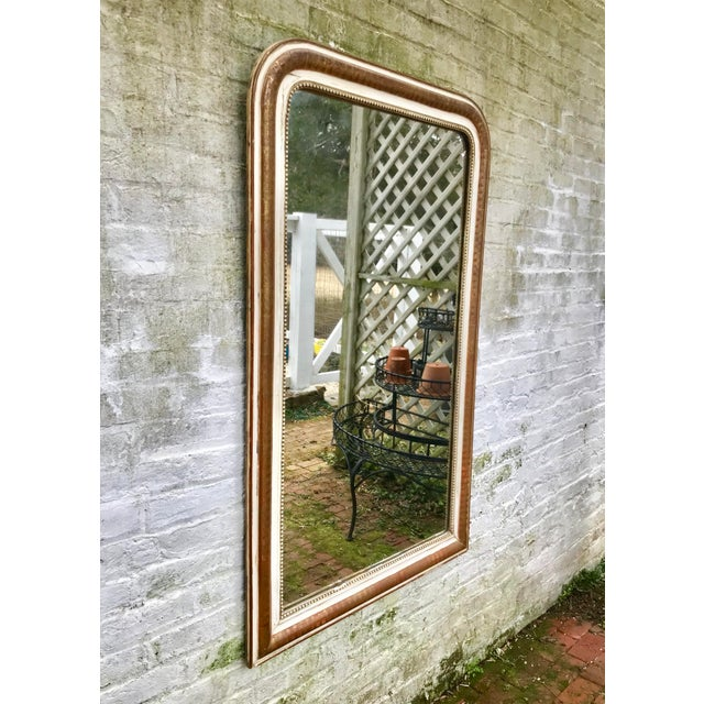 Large 19th Century Louis Philippe Mirror With Original Reflector For Sale - Image 4 of 12