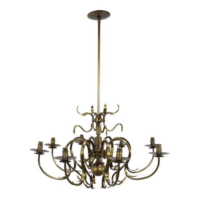 Grag Studios 8 Light Brass Chandelier - Image 1 of 10